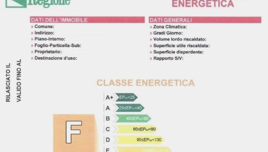 certificato energetico ape